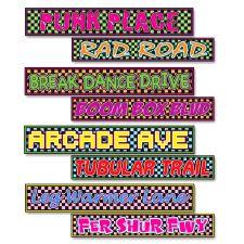 80's Street Sign Cardboard Cutouts