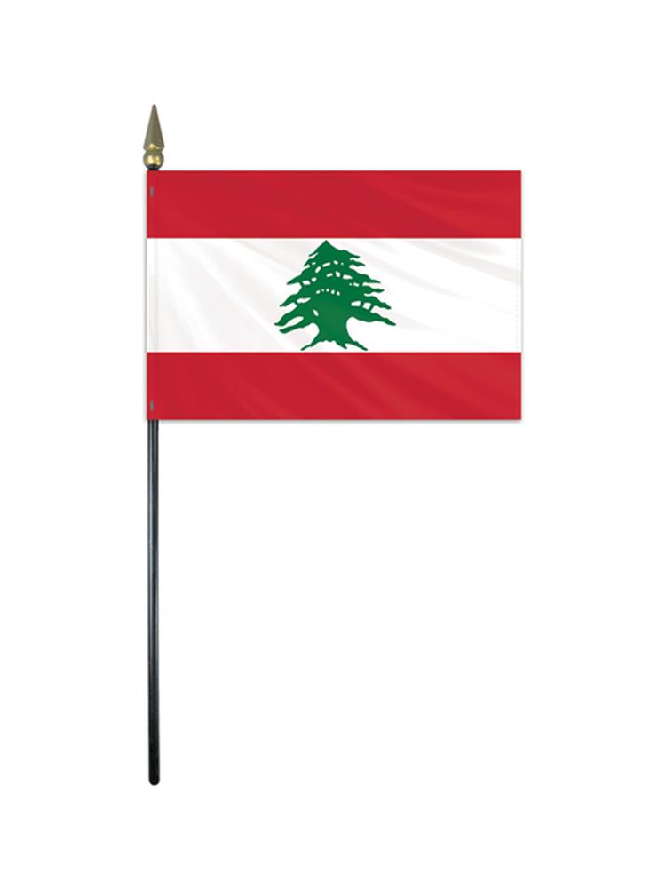 "Lebanon medium hand flag 9"" x 6"""