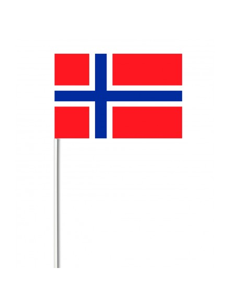 Norway medium hand flag 9″ x 6″
