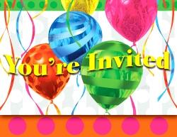 Balloon Bright Invitations