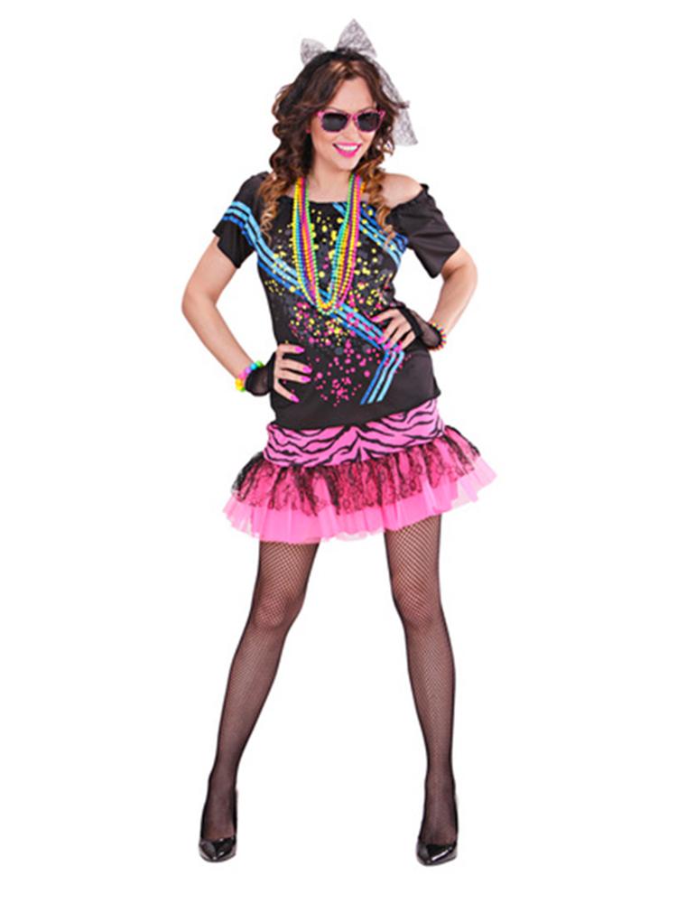 80s Rock Girl (T-Shirt Skirt Gloves Hair Tie)