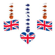 Union Jack Dangling Cutouts