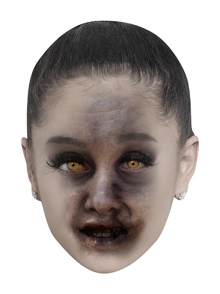 Ariana Grande Zombie - Cardboard Mask