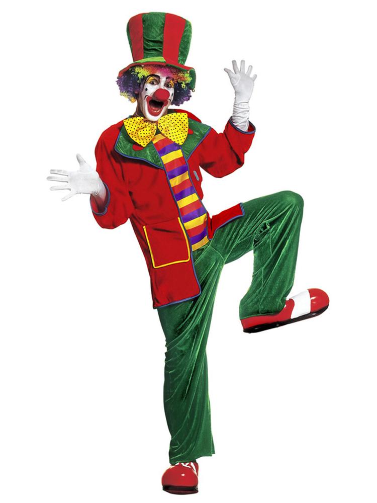 Clown Costume Velvet (Coat Pants Bow Tie Hat)