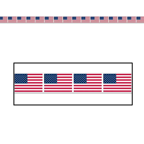 """American Flag Party Tape 3"""" x 20'"""