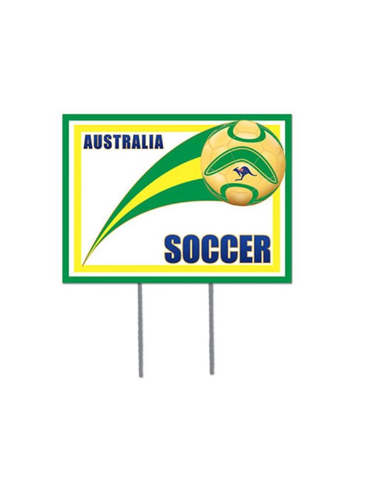 Australian Soccer Garden Sign
