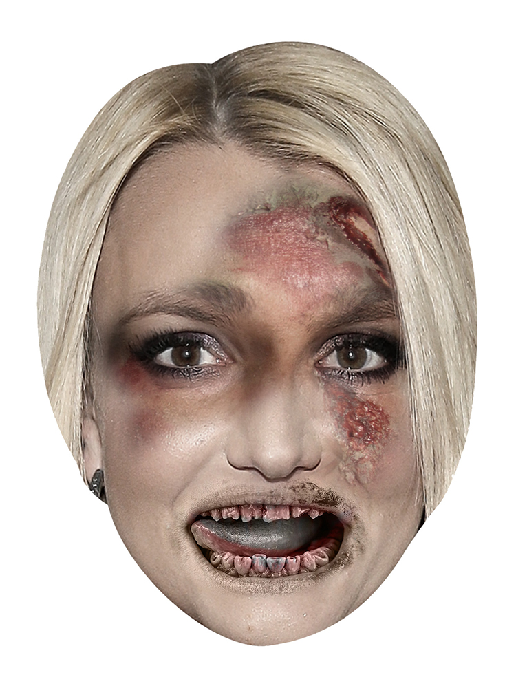 Britney Spears Zombie - Cardboard Mask