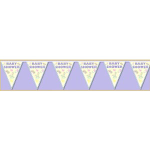 Baby Shower Pennant Banner