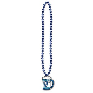 """Beads with Beer Stein Medallion 36"""""""