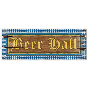 "Beer Hall Sign 8"" x 22"""