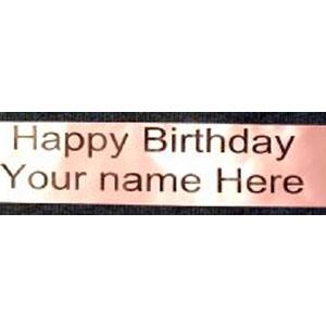 Birthday Sash