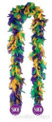 Feather Boa - bright Mix Colour