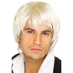 Boy Band Wig - White/Blonde