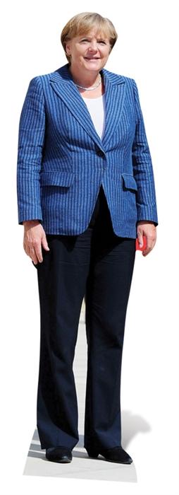 Life-sized cardboard cutout of Angela Merkel