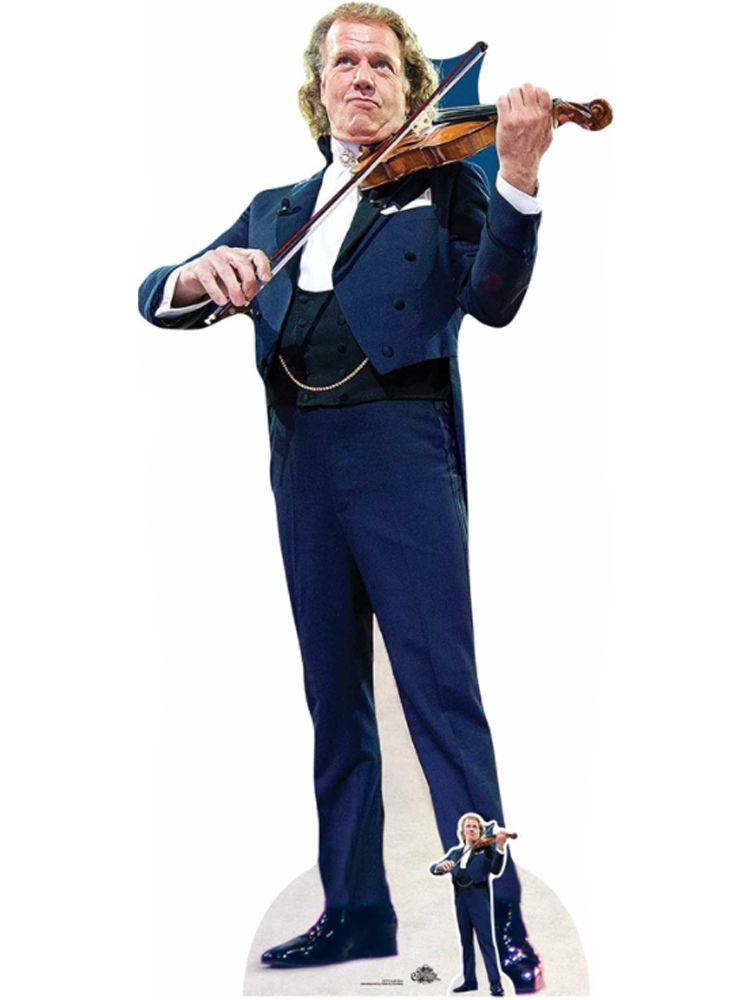Andre Rieu Composer with Violin Cardboard Standee with Free Mini Cardboard Cutout