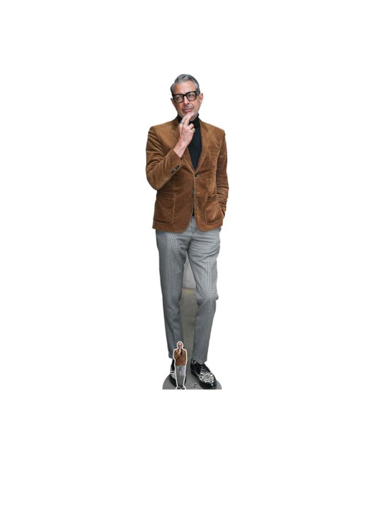 Jeff Goldblum (Suede Jacket) Cardboard Cutout with Free Mini Cardboard Cutout