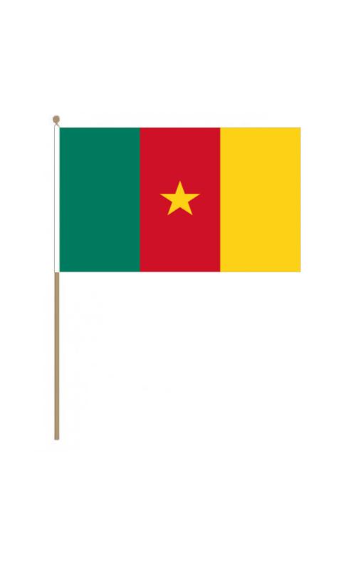 Cameroon Hand Held Flag