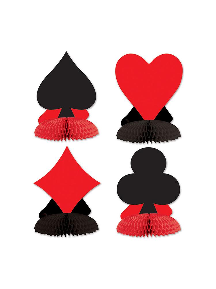 Card Suit Mini Centerpieces