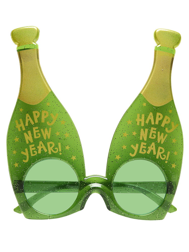 Champagne New Year Bottle Glasses