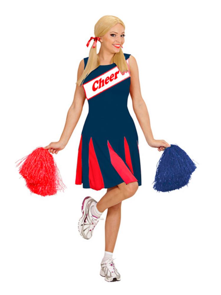 Cheerleader - Blue/Red Costume(Dress)