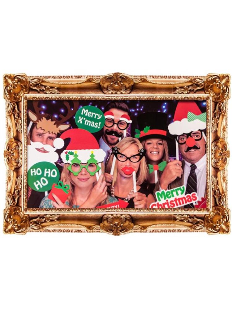 Christmas Photo Booth Kit with Frame