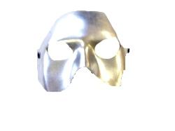 Half Face Silver Metallic Eye Mask (1)