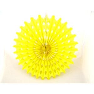 Decoration 'Big Sun' Yellow Honeycomb Hanging Fan