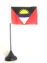 Antigua & Barbuda Table Flag with Base and Stick