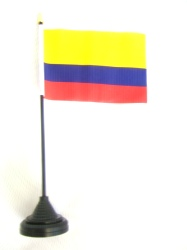 Colombia Table Flag with Stick and Base