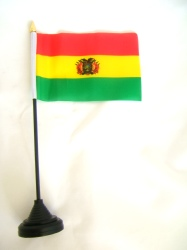 Bolivia Table Flag with Base and Stick