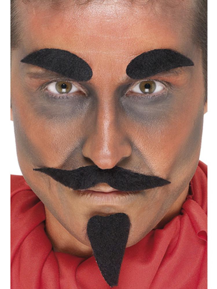 Devil Facial Hair Set, Black