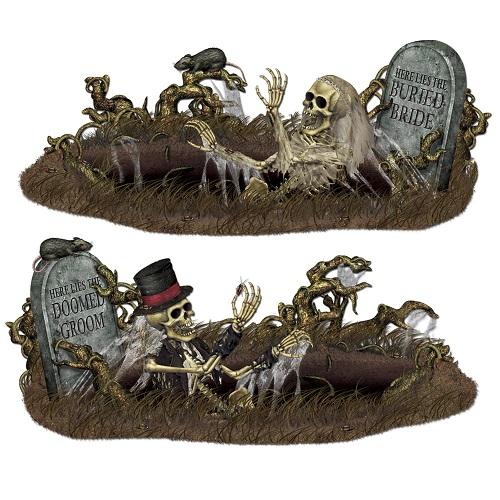 """Doomed Groom & Buried Bride Props 33½"""" x 5' 3"""""""