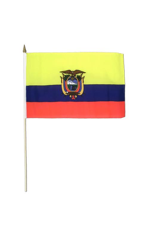 Equador Hand Waving Flag