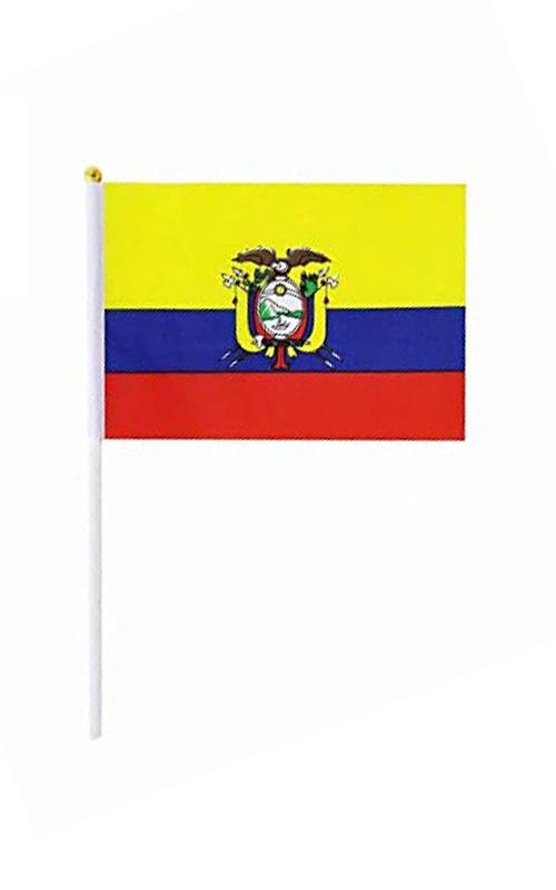 Ecuador  Hand Held Flag