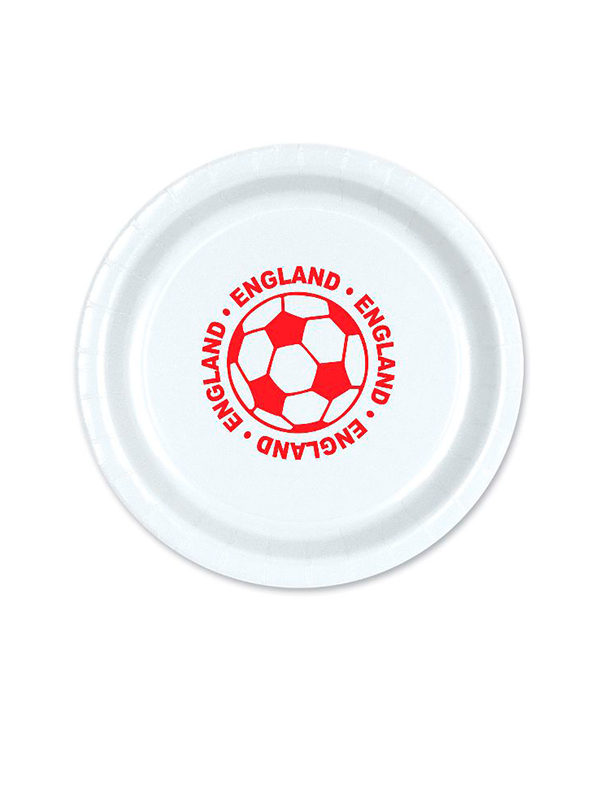 """England Football 9"""" Plate ( 8 plates per pack)"""