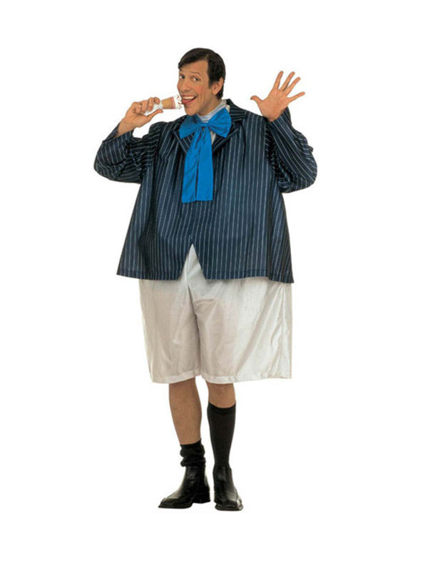 Fat Schoolboy Costume (Wire Hoop Jumpsuit Jacket Bowtie)
