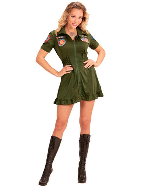 Fighter Jet Pilot Lady Costume