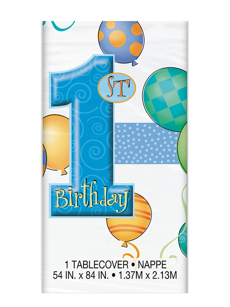 First Birthday Blue Table cover