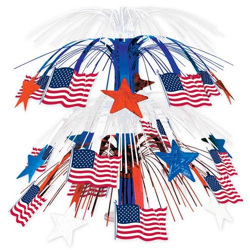 "Flag Cascade Centerpiece 18"""
