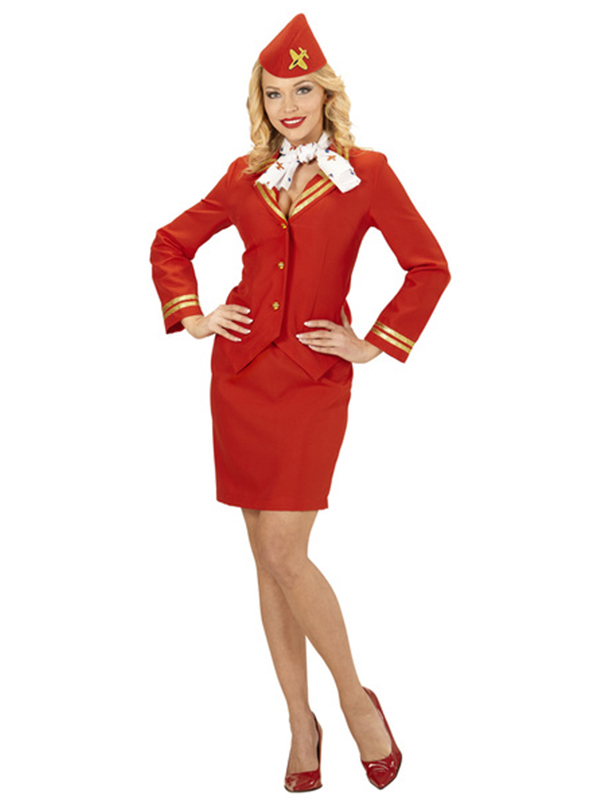 Flight Attendant (Jacket Skirt Scarf Sidecap)
