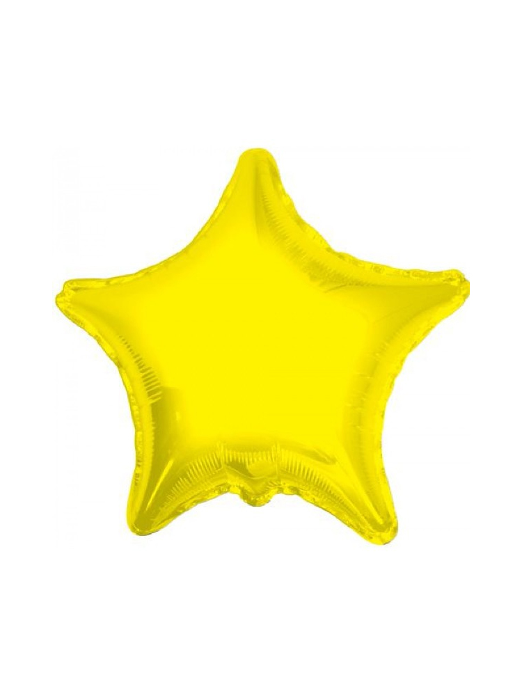 Foil Balloon Star Solid Metallic Yellow