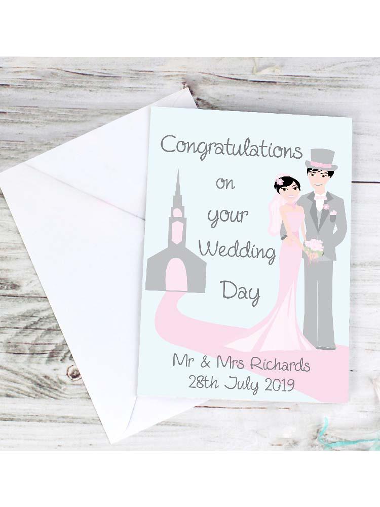 Personalised Fabulous Wedding Couple Card