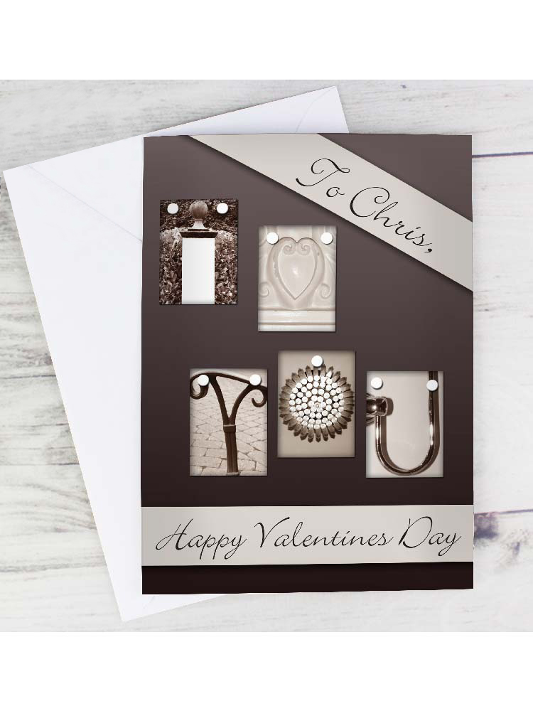 Personalised Affection Art I Heart You Card