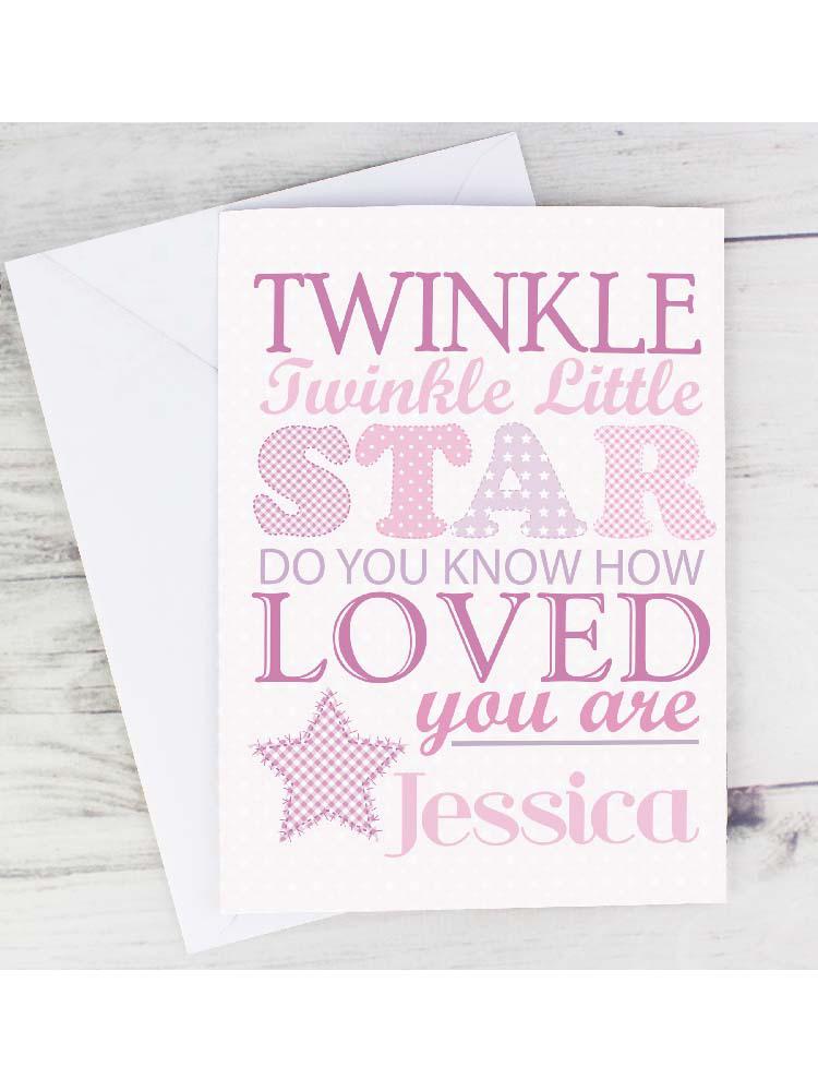 Personalised Twinkle Girls Card