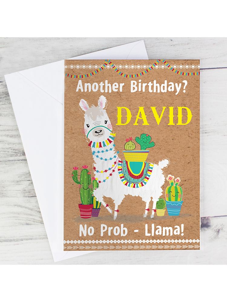 Personalised Llama Card