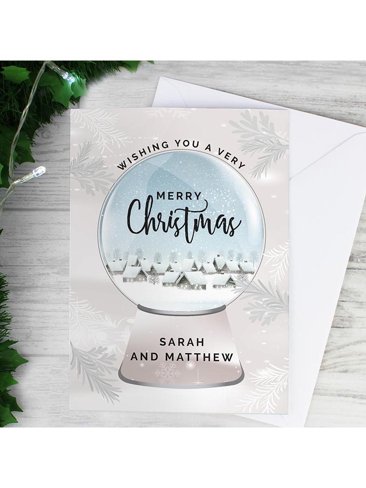 Personalised Christmas Snow Globe Card