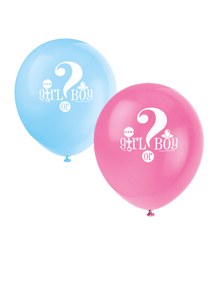 Gender Reveal Balloons Latex