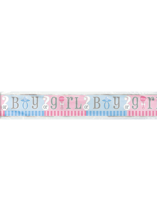 Gender Reveal Foil banner