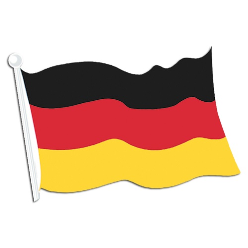 German Flag Cutout