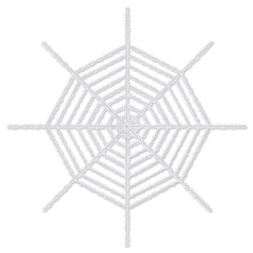 Giant Shimmering Spider Web - White